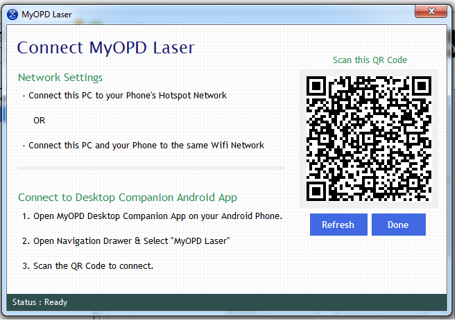 MyOPD Laser Connect