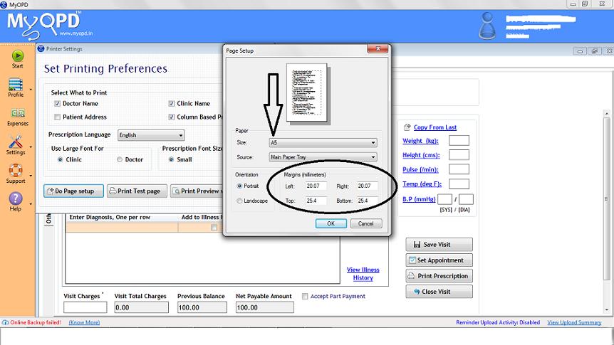 Page Setup Image